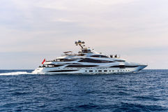 Lionheart yacht in the Sea Stock Images