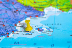 Ibiza Spain map Royalty Free Stock Images