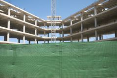 Building construction in Ibiza royalty free stock photos