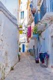 Ibiza Spanien, gata arkivbild
