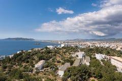 Ibiza stad, Balearic Island Royaltyfri Fotografi