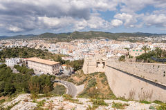 Ibiza stad, Balearic Island Royaltyfria Foton