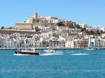 Ibiza stad Spanien Arkivfoto