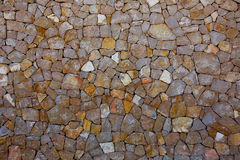 Ibiza-Steinmauerdetail von Mittelmeer legen Steine in den Weg Stockfotografie