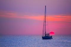 Free Ibiza Sunset Sun View From Formentera Island Stock Photos - 35465553
