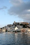Ibiza Town. And D'alt Villa royalty free stock photography