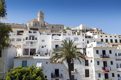 Ibiza town. Cathedral and old town. Ibiza, Balearic Islands. Spain Royalty Free Stock Photos