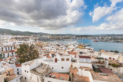 Ibiza Town and harbor, Balearic Islands Royalty Free Stock Photo