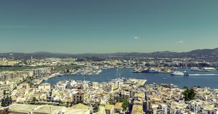 Ibiza Town and harbor, Balearic Islands Stock Image