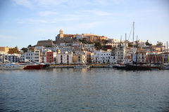 Ibiza town and harbour Stock Photos