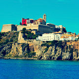 Ibiza Town, in Ibiza island, Balearic Islands, Spain Stock Image