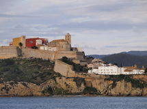 Ibiza Town Walls Royalty Free Stock Images
