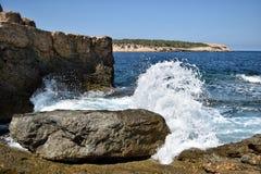 Ibiza våg arkivfoto