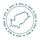 Ibiza vector map. Stock Images