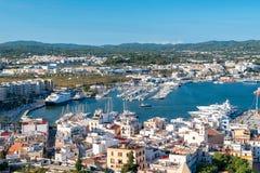 Ibiza, vista aerea immagine stock libera da diritti