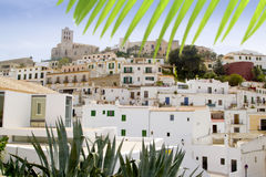 Ibiza white balearic island village downtown Royalty Free Stock Image