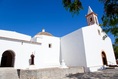 Ibiza white church in sant Joan de Labritja Stock Photo