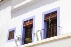Ibiza white island mediterranean architecture Stock Images