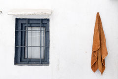 Ibiza white wall Stock Images