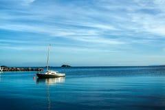 Ibiza wieczór morze Zdjęcie Stock
