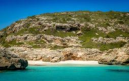 Ibiza wild sand beach Royalty Free Stock Image