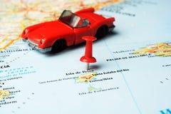 Ibiza wyspy, Hiszpania mapa samochód Obraz Royalty Free