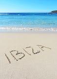 Ibiza-Zeichnung Stockbild