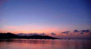 Ibizan roze zonsondergang stock foto's