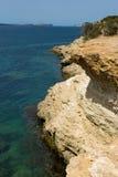 Ibizaoverzees scape Stock Afbeeldingen