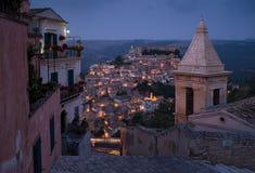 ibla ragusa городского пейзажа Италия Сицилия Стоковая Фотография
