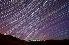 IBM Almaden Research Center Star Trails Royalty Free Stock Images