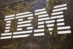IBM brandname logo Stock Image