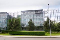 IBM company logo on headquarters building Stock Images