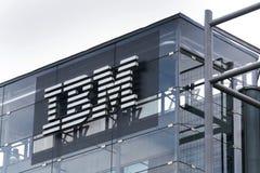 IBM company logo on headquarters building Stock Photography