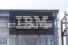 IBM company logo on headquarters building Stock Image