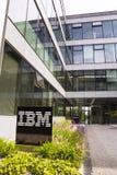 IBM company logo on headquarters building Royalty Free Stock Photo