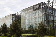 IBM company logo on headquarters building Stock Photos