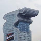 IBM Logo on building, vertical Royalty Free Stock Image