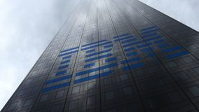 Free IBM Logo On A Skyscraper Facade Reflecting Clouds. Editorial 3D Rendering Stock Photography - 102040192
