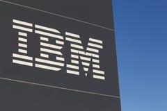 IBM logo on a panel Stock Photography