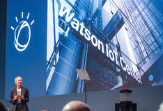 IBM Watson IoT General Manager Harriet Green delivers an address Stock Image