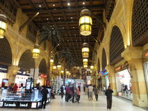 Ibn Battuta Mall in Dubai, UAE. It is the world's largest themed shopping mall. It consists of six courts. The Andalusia court is pictured here Royalty Free Stock Images