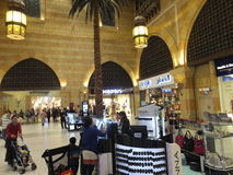 Ibn Battuta Mall in Dubai, UAE. It is the world's largest themed shopping mall. It consists of six courts. The Andalusia court is pictured here Stock Photo