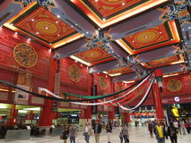 Ibn Battuta Mall in Dubai, UAE. It is the world's largest themed shopping mall. It consists of six courts. The China court is pictured here Stock Images