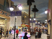 Ibn Battuta Mall in Dubai, UAE. It is the world's largest themed shopping mall. It consists of six courts. The Egypt court is pictured here Royalty Free Stock Image