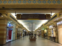 Ibn Battuta Mall in Dubai, UAE. It is the world's largest themed shopping mall. It consists of six courts. The Egypt court is pictured here Stock Photo