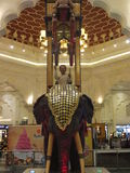 Ibn Battuta Mall in Dubai, UAE. It is the world's largest themed shopping mall. It consists of six courts. The India court is pictured here Royalty Free Stock Photography