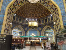 Ibn Battuta Mall in Dubai, UAE. It is the world's largest themed shopping mall. It consists of six courts. The Persia court is pictured here Stock Photography