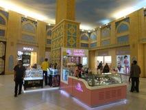 Ibn Battuta Mall i Dubai, UAE Arkivbild