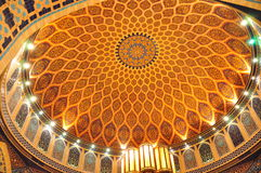 Ibn Battuta Persia Court Dome2. The Dome of the hall in the Persia Court in the Ibn Battuta Mall in Dubai Royalty Free Stock Image